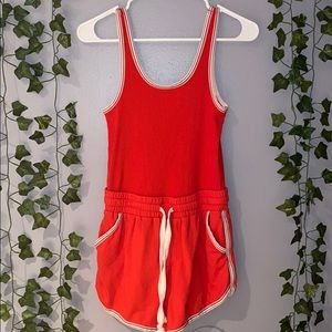 Woman's Free People Intimately Red Mini Romper XS